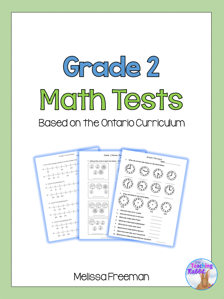 Grade 2 Math Tests Bundle (Based on Ontario Curriculum ...