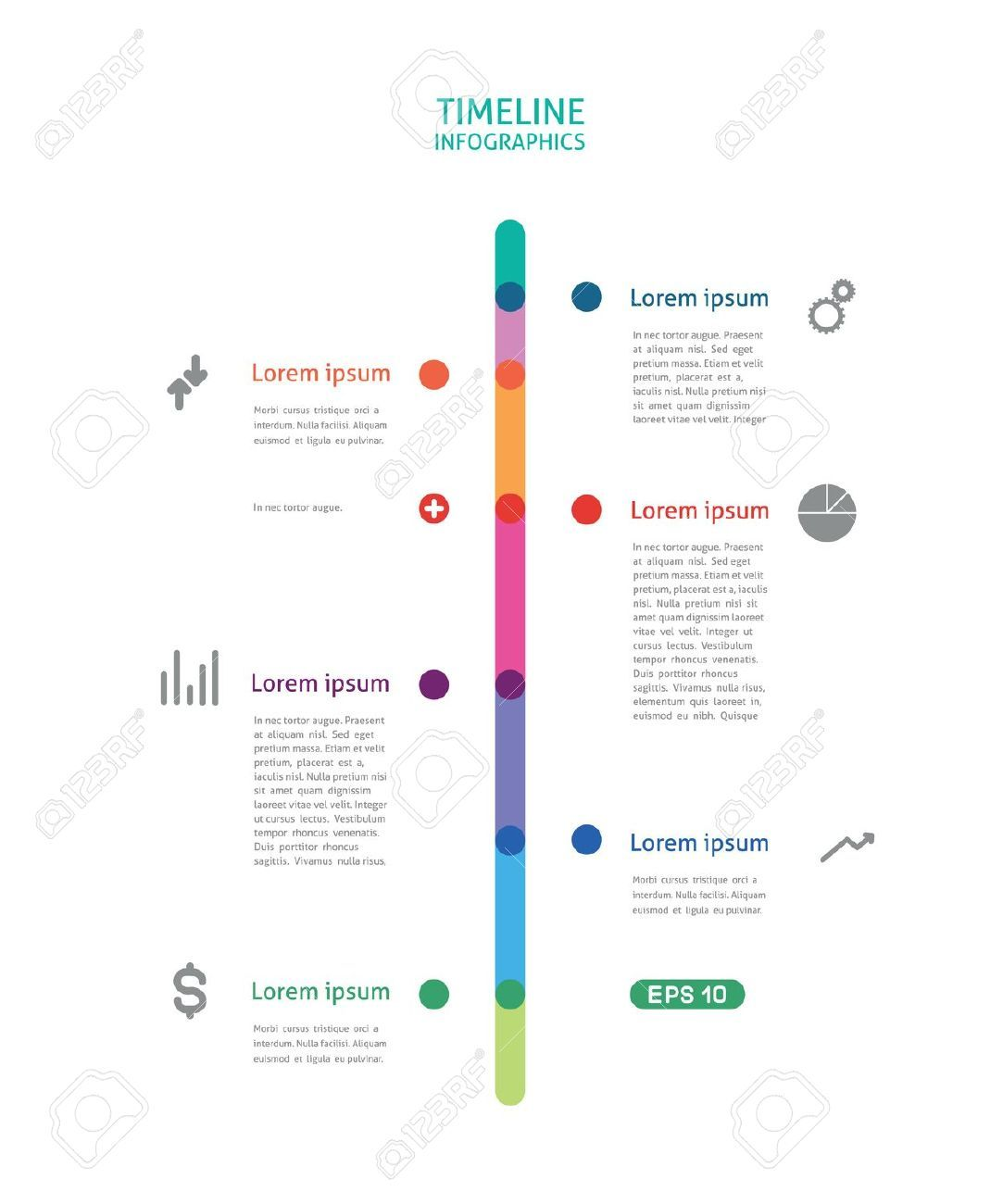 Infographics timeline vertical s k p google for Grafik design job