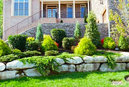 Merveilleux Simple Landscaping With Evergreen Trees And Shrubs Designs Ideas Pictures  And Diy Plans · Front Yard ...