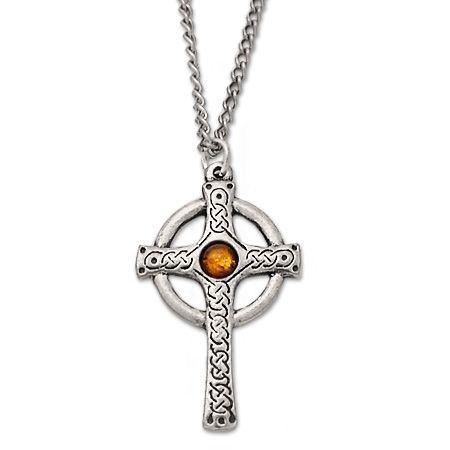 Celtic Cross with semi-precious stone
