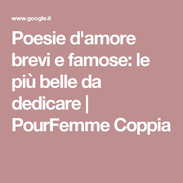Poesie D Amore Brevi E Famose Le Più Belle Da Dedicare