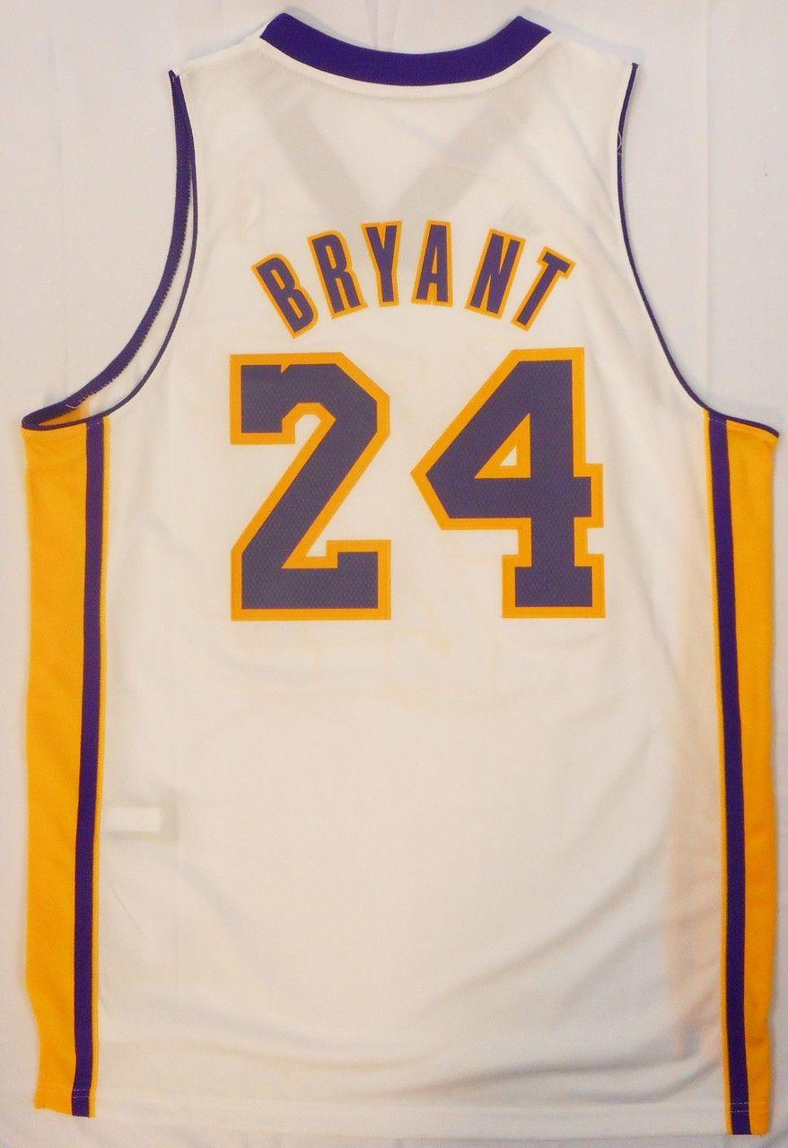 9292bf44c Kobe Bryant  24 adidas Los Angeles Lakers Swingman White Away Jersey  Licensed - allaccesssports365.com