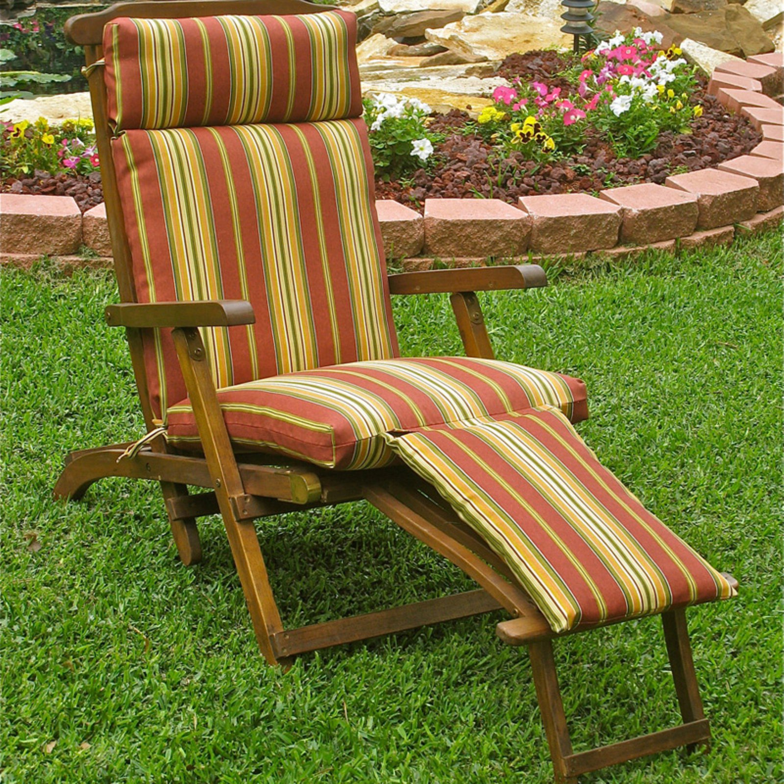 Blazing Needles Outdoor Steamer Chaise Lounge Cushion 72 X 20 In Farmington Terrace Grenadine Patio Cushions Outdoor Rocking Chairs Patio Chaise Lounge