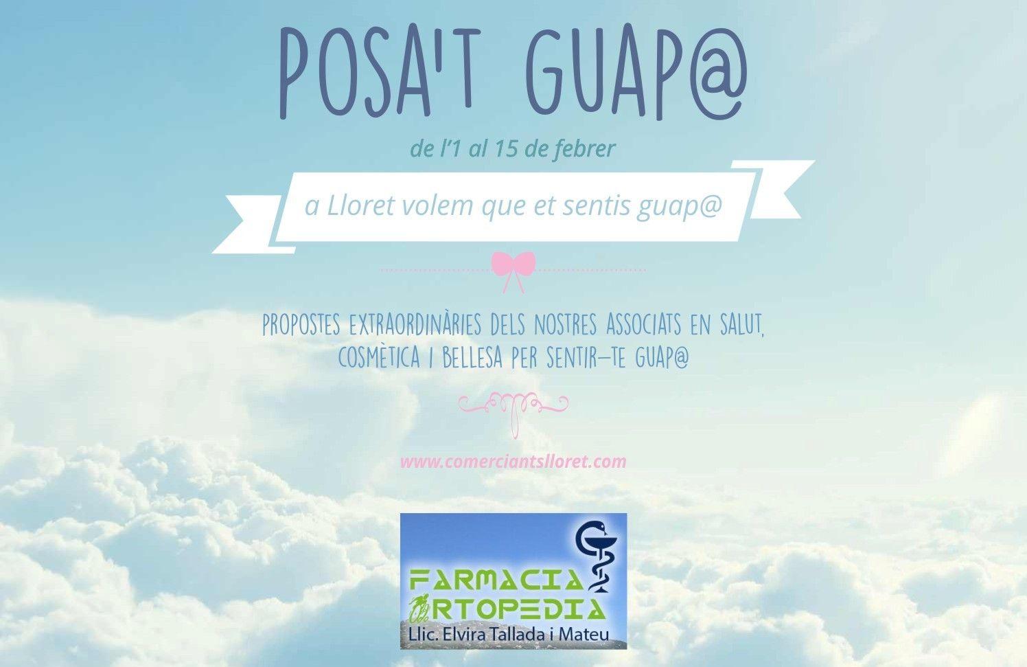 Mira la promoció de la Farmàcia i Ortopèdia Elvira Tallada  http://www.comerciantslloret.com/ca/farmacia/farmacia-tallada
