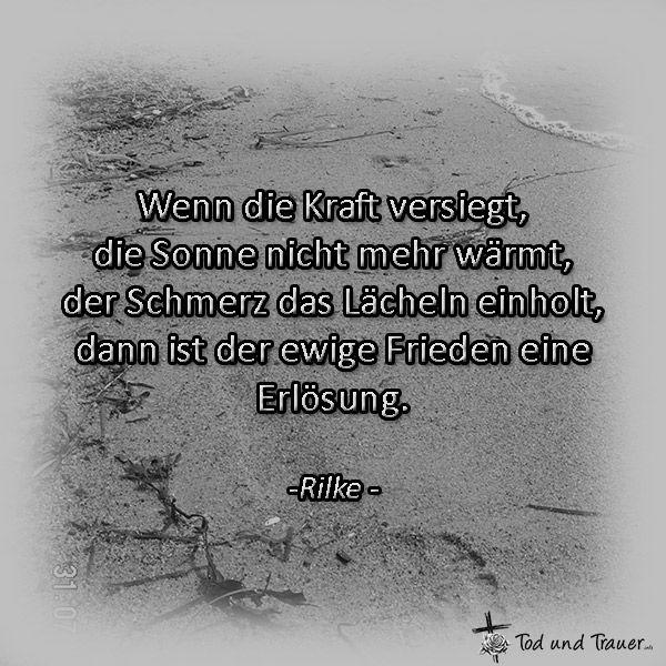 Beileidssprüche | Traurig | Pinterest | Rainer maria rilke, Grief ...