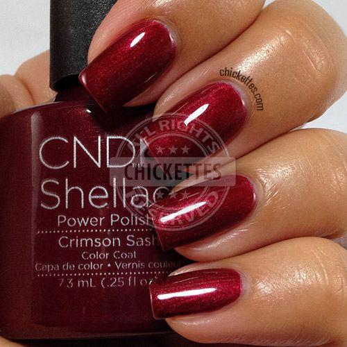 Crimson Nail Polish: CND Shellac Modern Folklore Collection