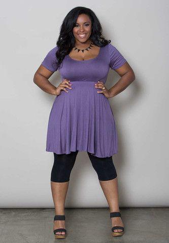 Leggings Under Dresses Are Back Pair A Simple Plus Size Dress Like
