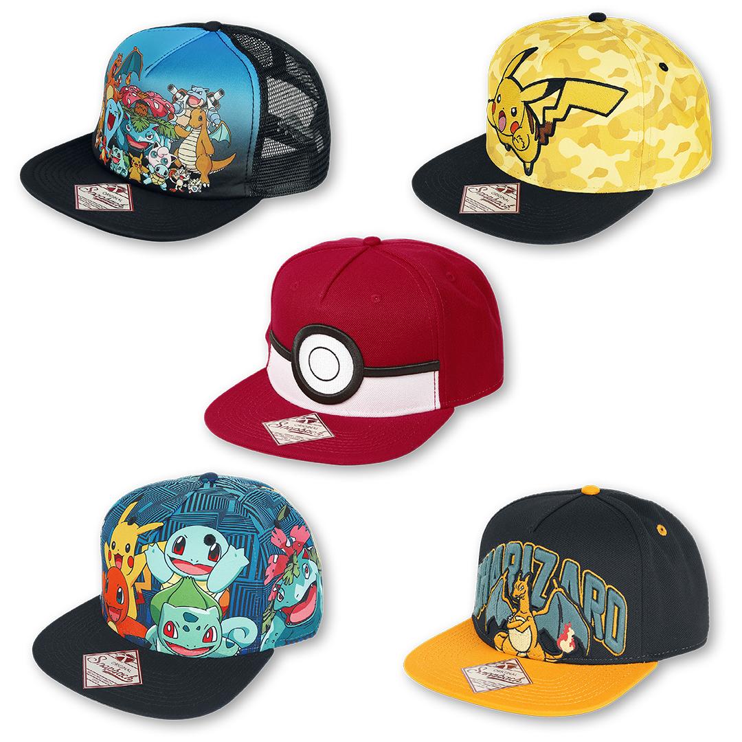 Verschiedene #Pokémon #Caps für deinen perfekten Catch-em-all-Einsatz! #empstyle