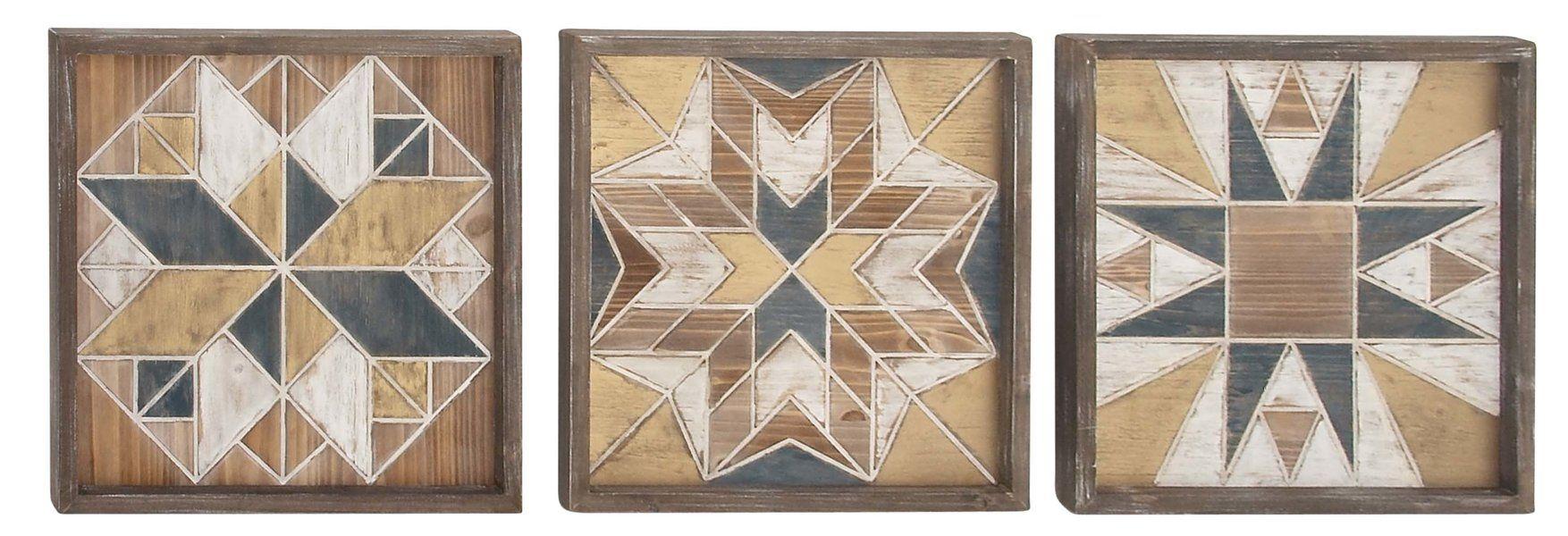 3 Piece Wood Wall Decor Set Joss Main With Images Compass