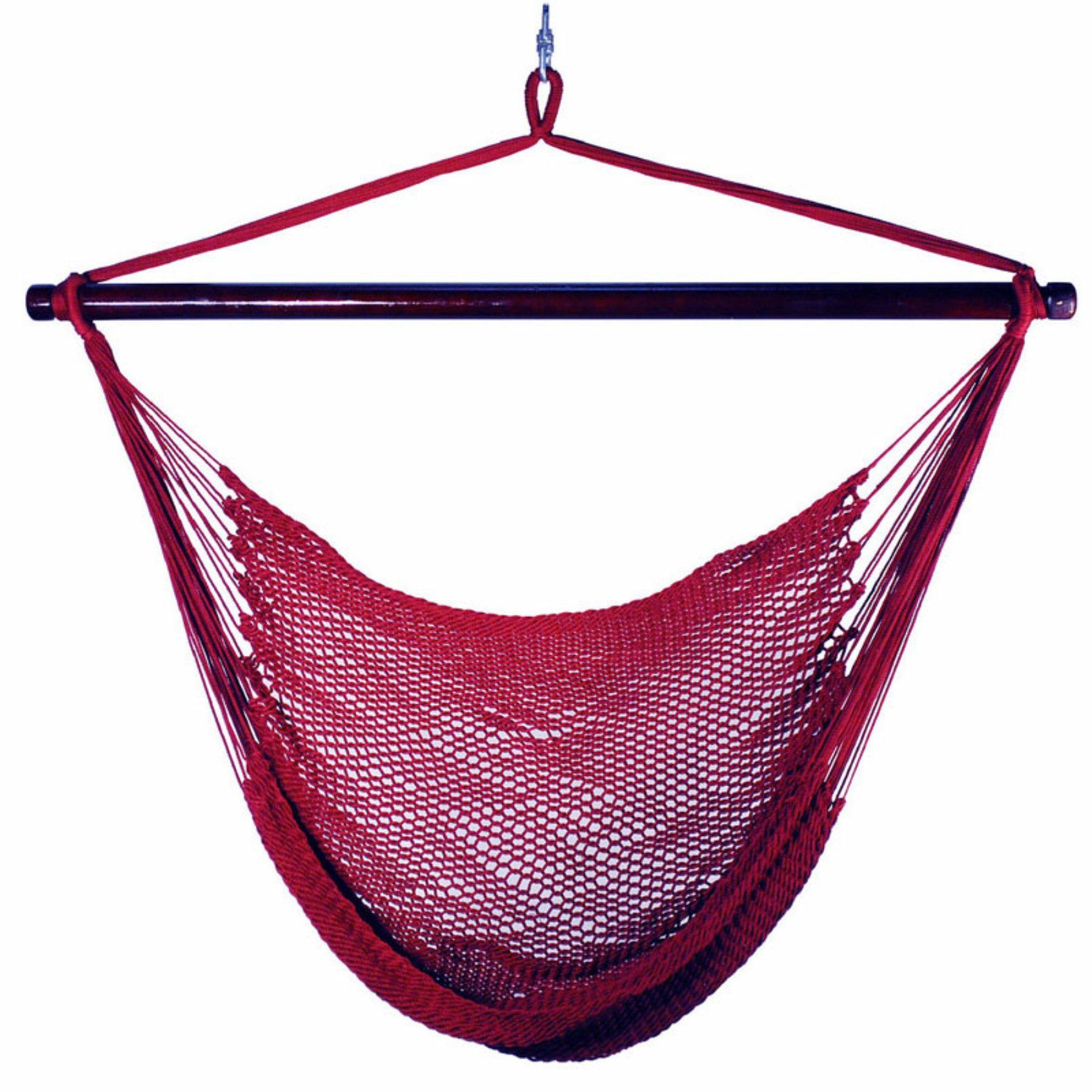 Outdoor algoma caribbean rope hammock chair t hammocks