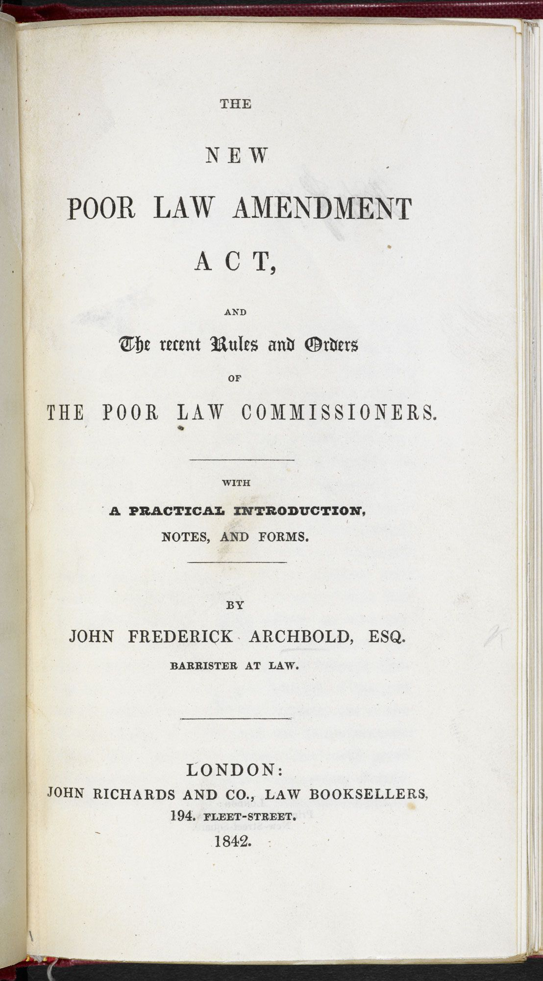 Discover The Outline Of The New Poor Law Amendment Act