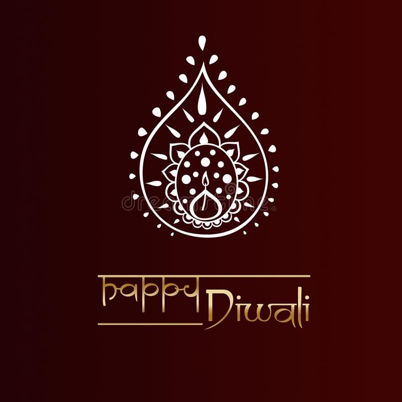 Diwali greeting card stock illustration. Illustration of ethnicity - 99842240