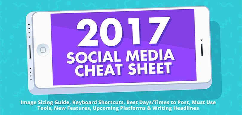 Une infographie pour optimiser vos réseaux sociaux en 2017 via @creapills