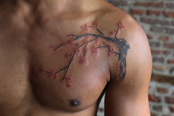 58 Inspiring Cherry Blossom Tattoo Designs Page 5 Of 5 Real Body Art Blossom Tattoo Cherry Tree Tattoos Cherry Blossom Tattoo Men