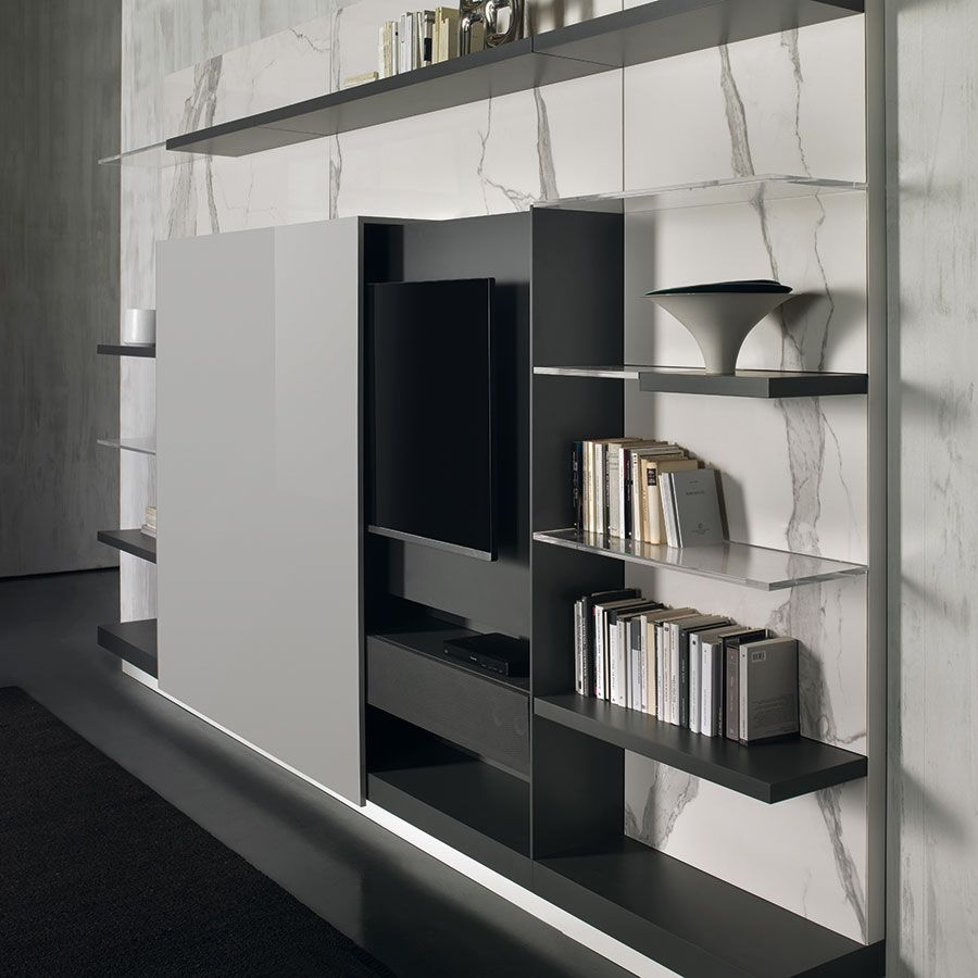 Black And White Minimalist Glass Tv Stands Messenger By Lammhults