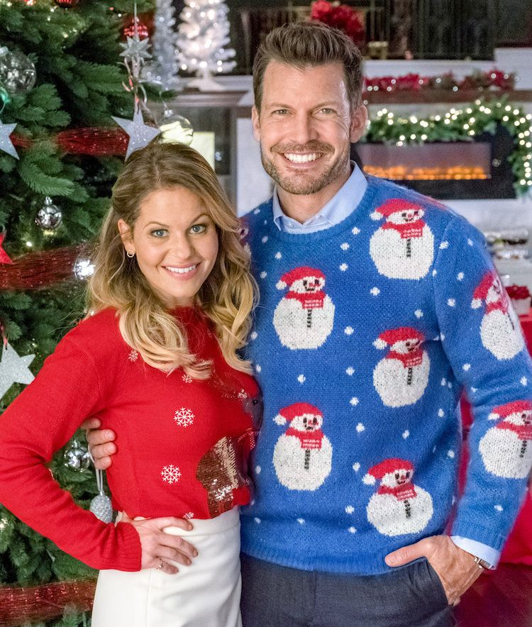 Switched For Christmas Candace Cameron Bure And Mark Deklin Are Filled With Christmas Cheer Coun Hallmark Christmas Movies Hallmark Movies Christmas Movies