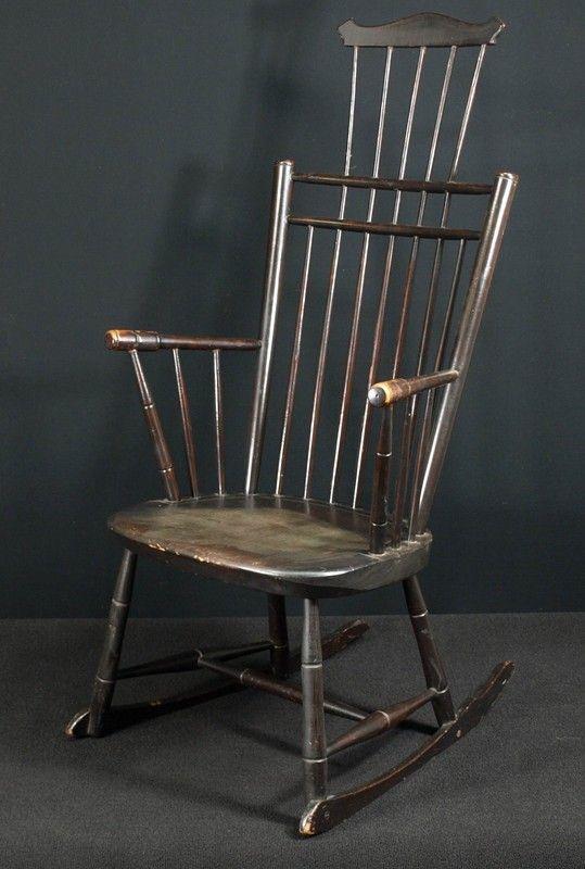 Image detail for --General (Antiques): Windsor Comb Back Rocking Chair,  chair . - Image Detail For --General (Antiques): Windsor Comb Back Rocking