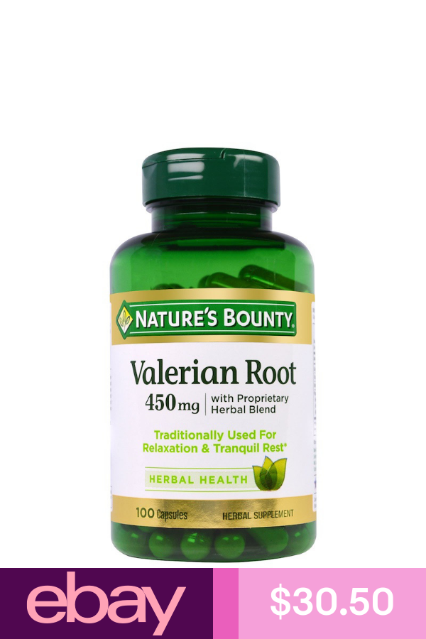 Nature S Bounty Vitamins Supplements Health Beauty Valerian Root Herbalism Herbal Supplements