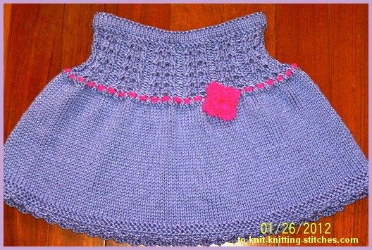 Very Cute Short Skirt For Toddlers And Girlsfree Skirt Knitting