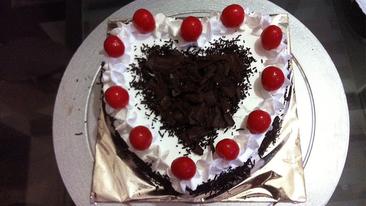 Heart Shape Black Forest Cake Made At Home By Geetika How To