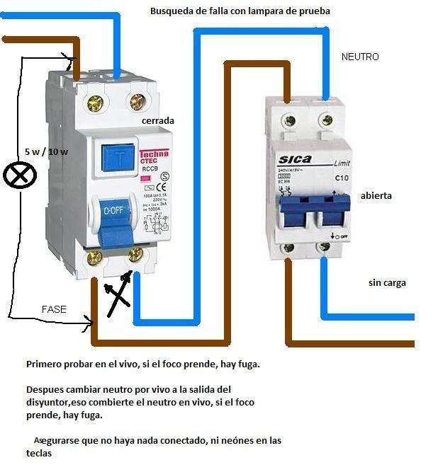 Fuga y salta la diferencial electricidad domiciliaria - Interruptor general automatico ...