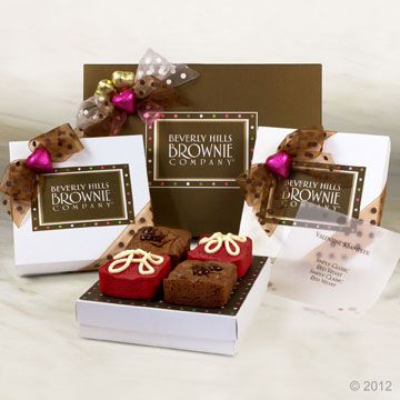 Valentines day brownie gift packaging gifts pinterest valentines day brownie gift packaging negle Images
