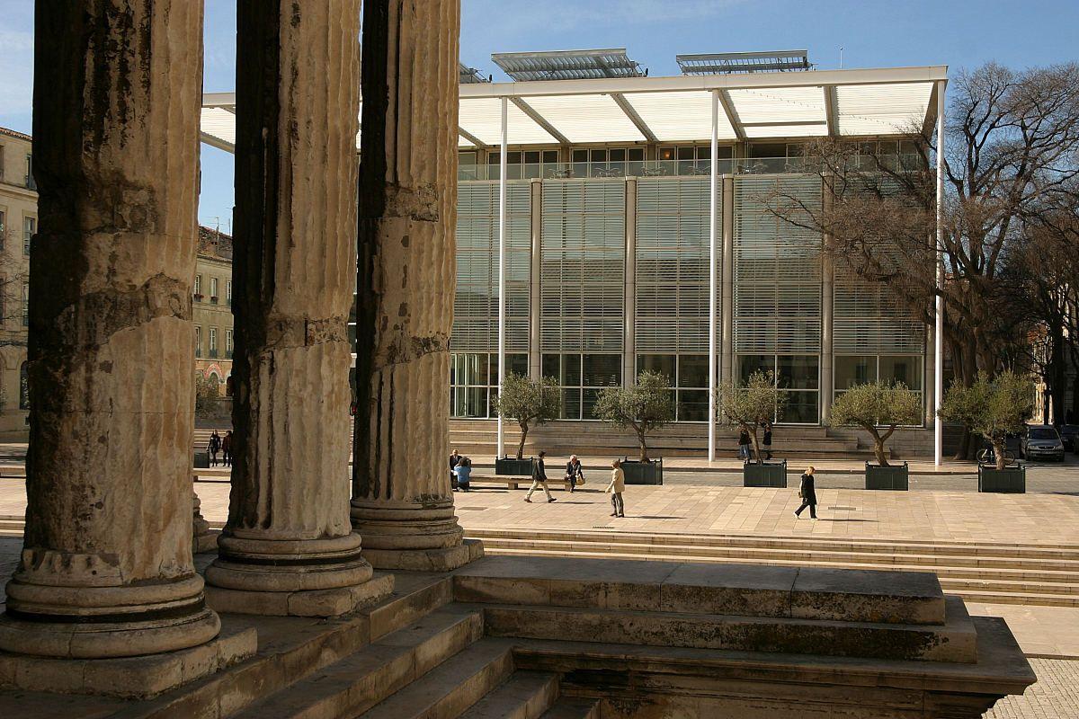 Carre D Art Norman Foster Con Imagenes Arquitectura
