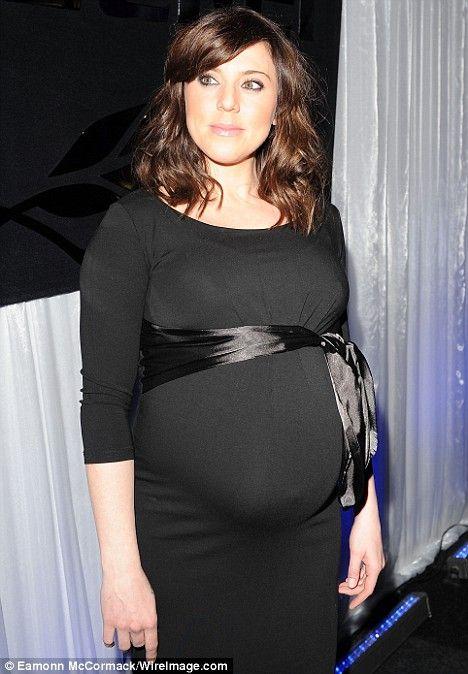 Mel C   Isabella Oliver   Satin Bow Maternity Dress   Maternity ...