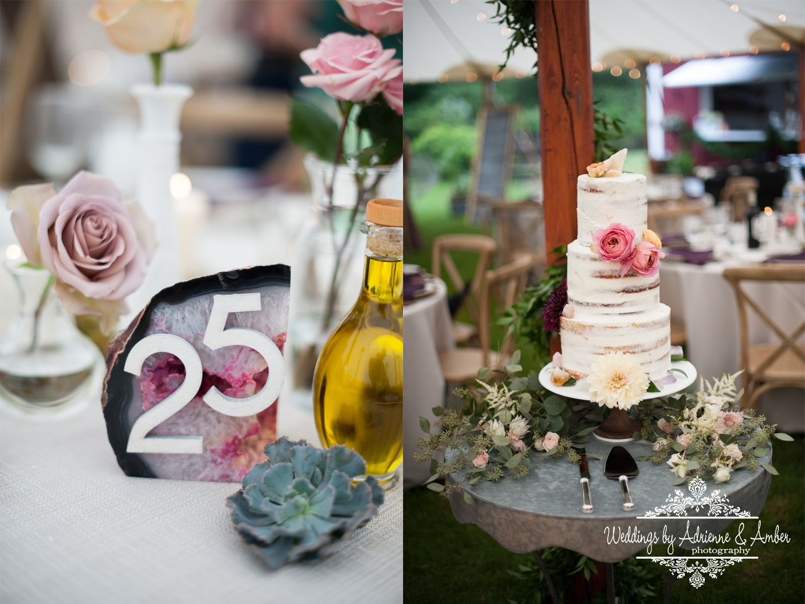 Barn wedding cake table ideas  Royal Oak Wedding Photographers Weddings by Adrienne u Amber