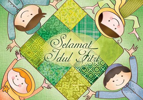 Kartu Ucapan Selamat Lebaran Hari Raya Idul Fitri 1437h 2016 Kartu Kartun Animasi