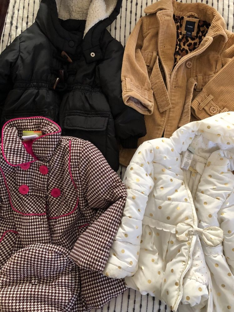 0de3c5eac lot of 6 toddler girl coats and vests size 2  GAP old navy Cynthia ...