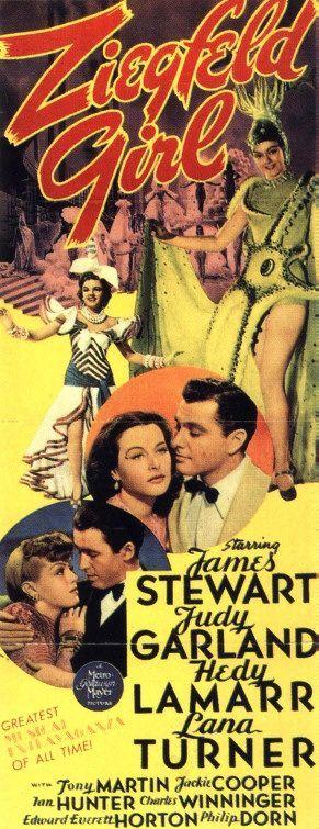 Movie Poster for Ziegfeld Girl (1941) starring Jimmy Stewart, Judy ...