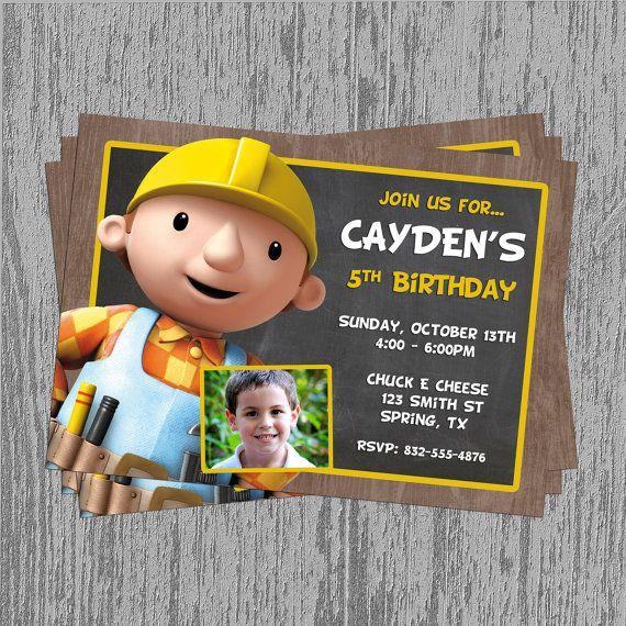 Bob The Builder Birthday Invitation By Lastingmomentsdesign 8 00 Bday Party Theme Birthday Fun Bob The Builder