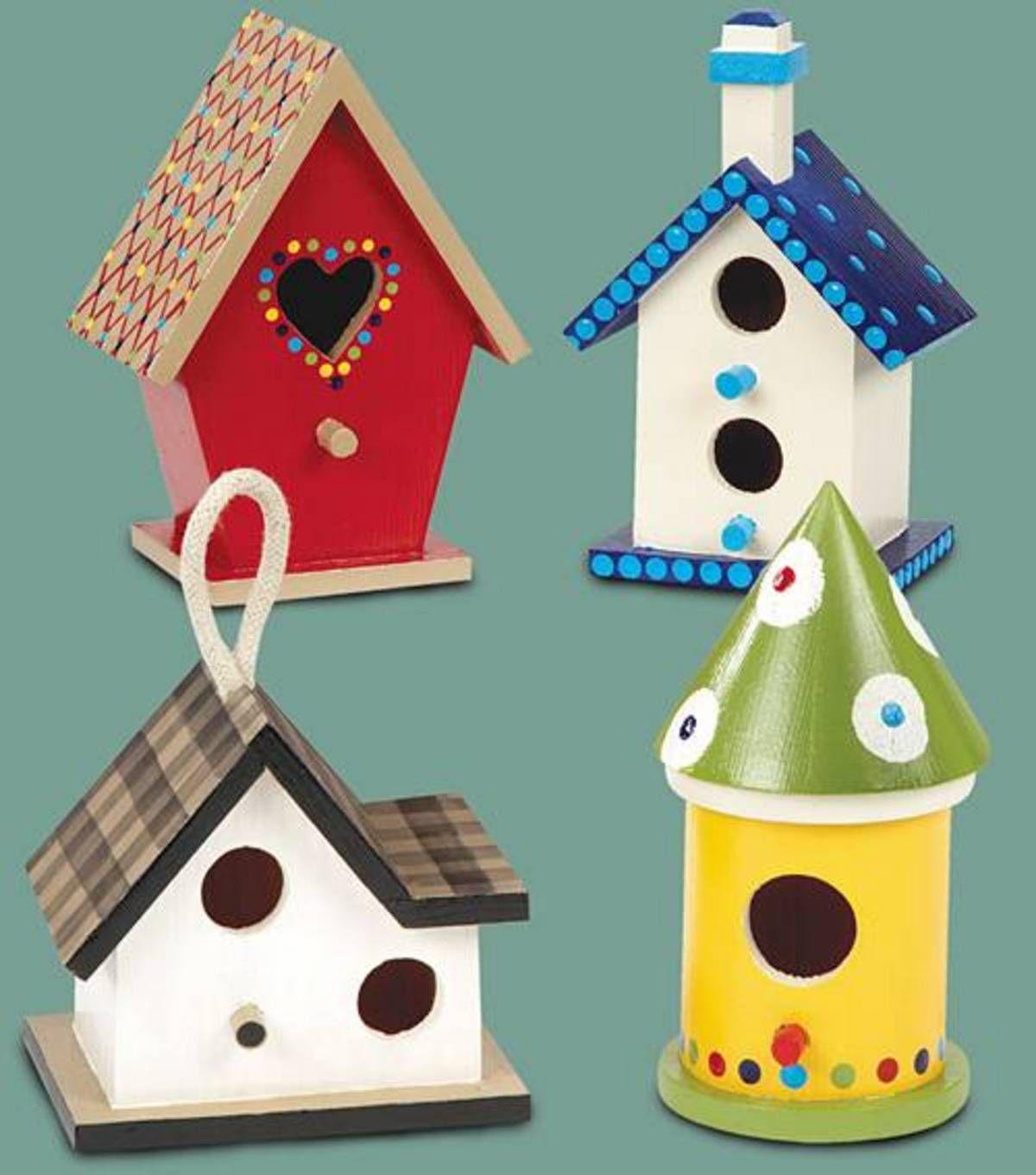 Hand Painted Mini Birdhouseshand Painted Mini Birdhouses Bird