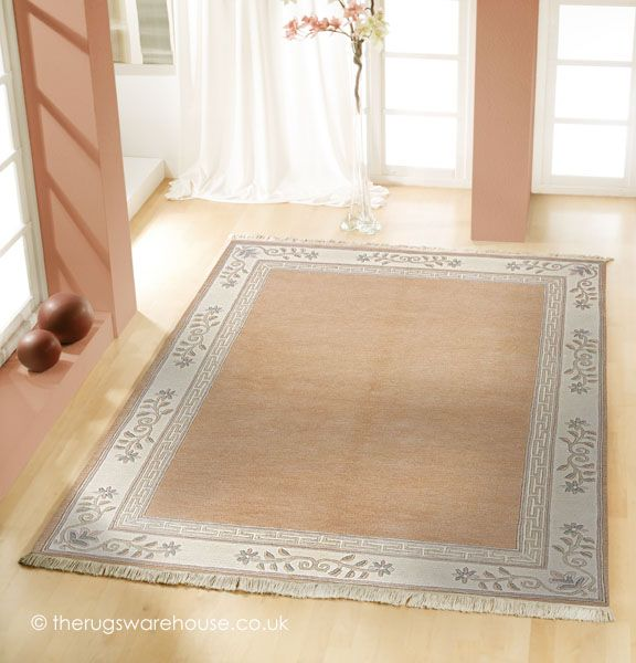 Clica Apricot Rug A 100 Wool Bordered Clic Chinese Style Carpets Http