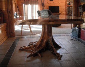 Cedar Stump Dining Table By Stumpman On Etsy