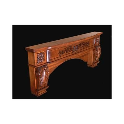 Traditional Mantel From Mantel Arts Group, Model: Design 120W Mantel Shelf  With Round Opening