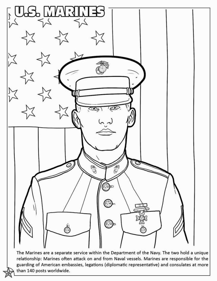 Marine Corps Coloring Pages | Coloring Pages | Pinterest | Marine FC ...