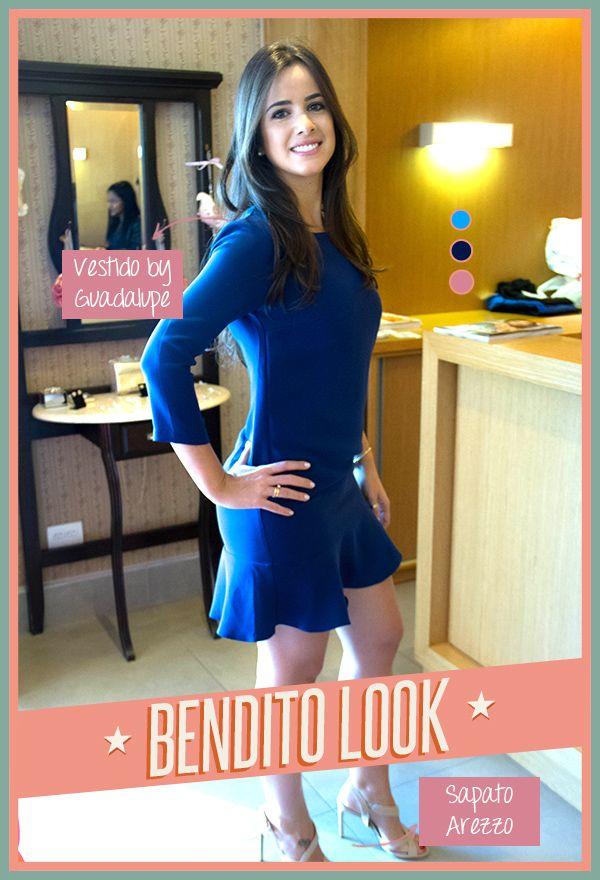Bendito Look - Vestido manga longa - Bendita Inspiração #moda #fashion #dress #vestido #estilo #bluedress #blue