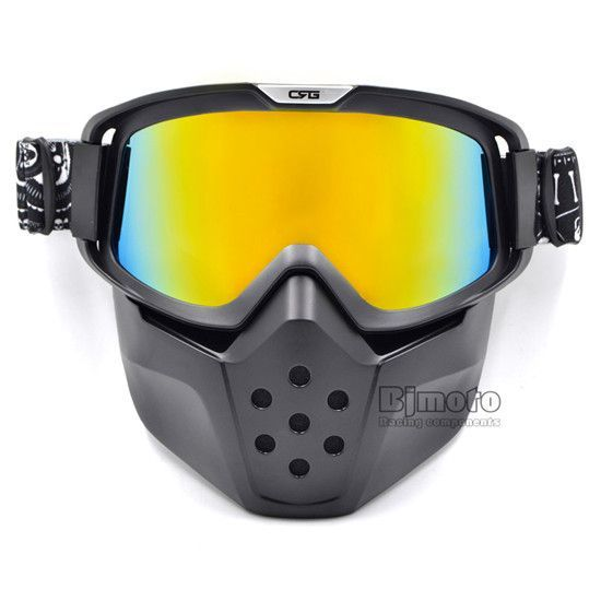 Detachable CRG Modular Face Mask Shield Goggles For Motorcycle Open Face Helmet