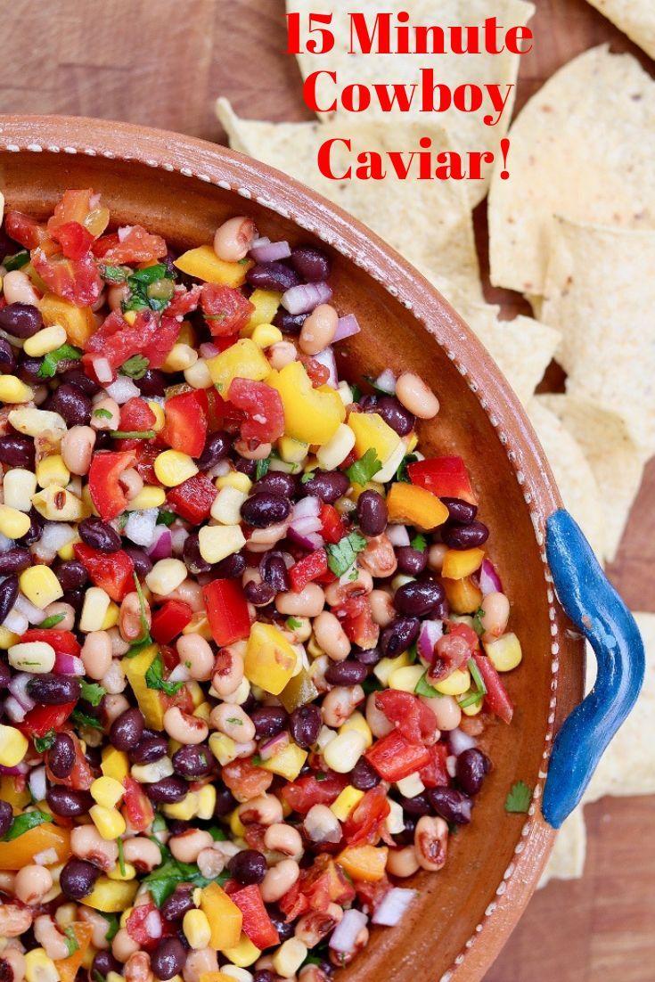 15 Minute Cowboy Caviar (AKA Texas Caviar) - The Cheeky Chickpea