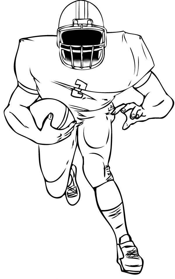 american football coloring page - Coloring Pages Football Players