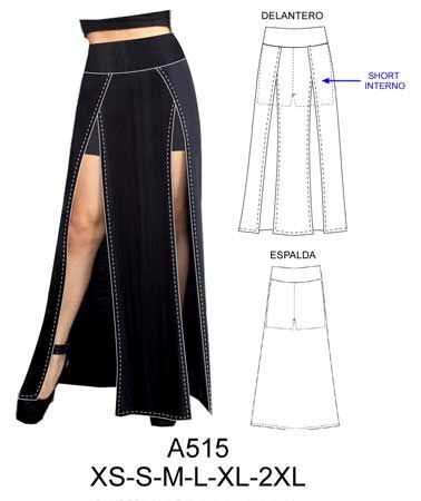 4b81352bd8 Modelos de falda larga con abertura  abertura  falda  larga  modelos   modelosdeFalda