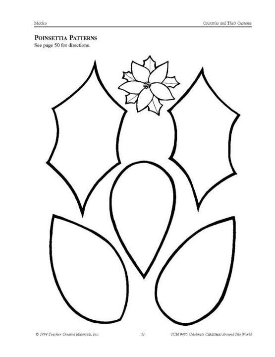 printable poinsettia template koni polycode co