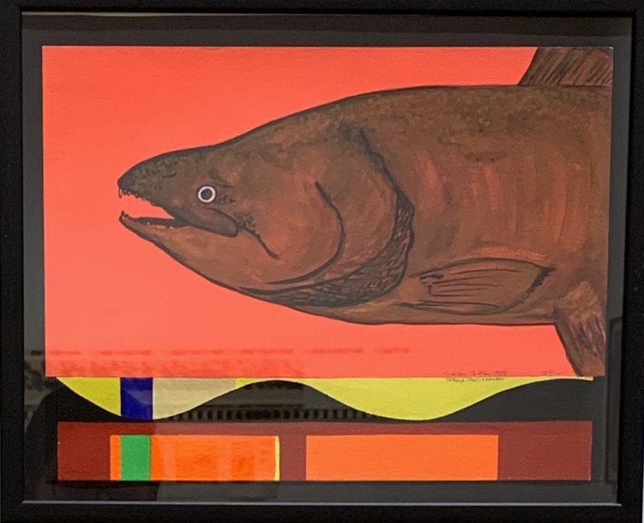 O'Hara, Time Study Salmon, 1988, July 2, graphite