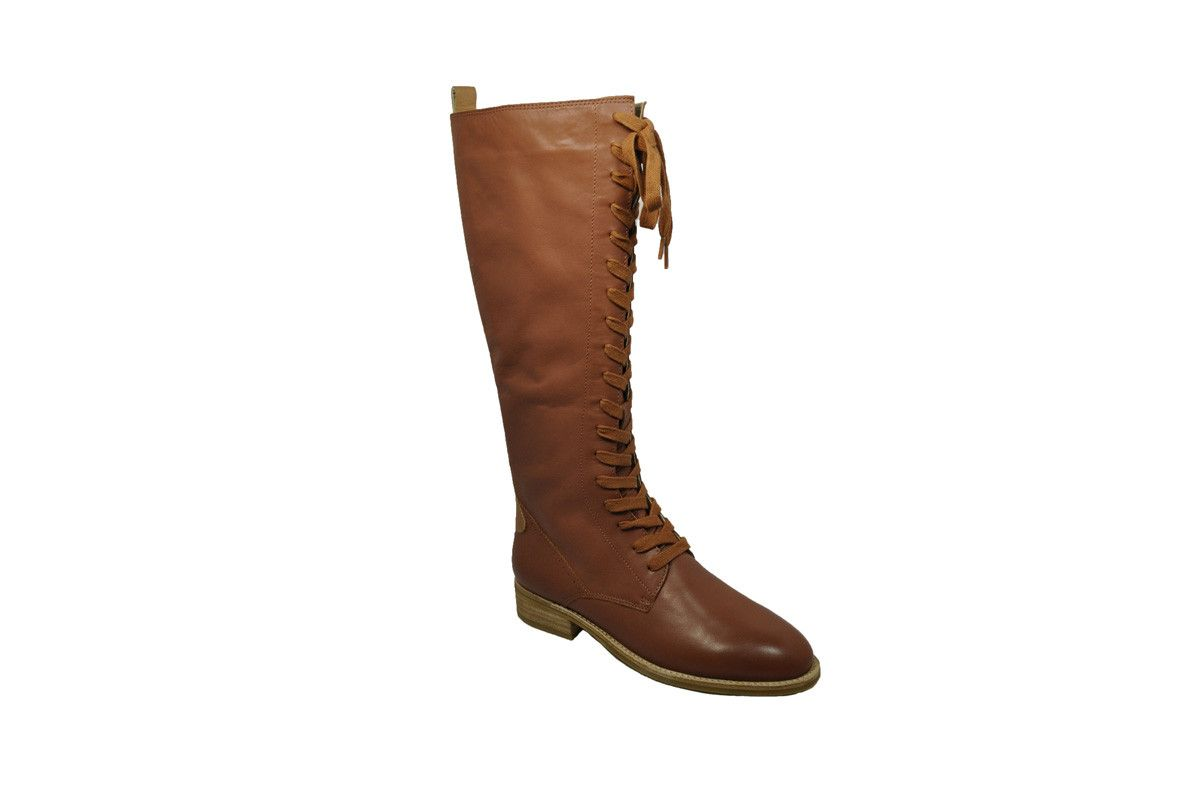 TOPPO Lace Up Boots - Whiskey Camel