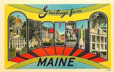 Letter Greetings Impressive Augusta Maine Me 1950 Large Letter Greetings From Augusta Maine .