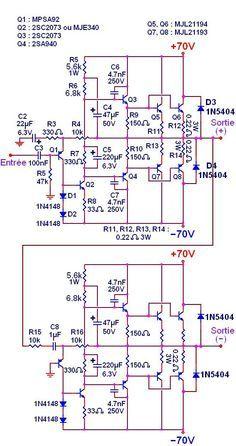 ampli audio 500w a 1000w circuit imprime typon 2