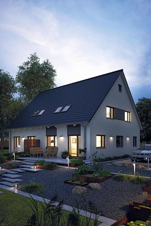 Fertighaus Doppelhaus 45119 Haus, Hanse haus