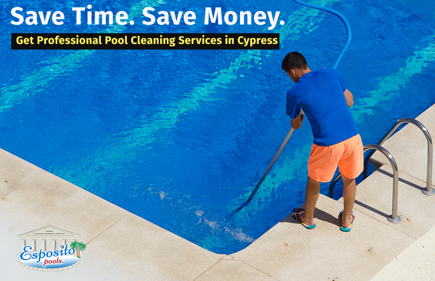 Save Time Save Money Get Professional Pool Cleaning Services In Cypress Professionalpoolcleaning Professionalpool Pool Cleaning Service Pool Cleaning Pool
